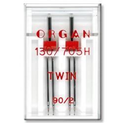 Machine Needles ORGAN TWIN 130/705 H - 90 (2,0) - 2pcs/plastic box