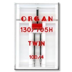 Machine Needles ORGAN TWIN 130/705 H - 100 (4,0) - 1pcs/plastic box