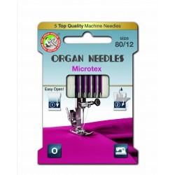Machine Needles ORGAN MICROTEX ASSORT - 80- 5pcs/card