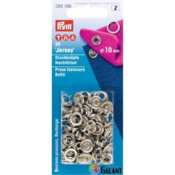 Press fasteners JERSEY 10mm - nickel plated (Prym) - 20pcs/card