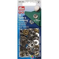 Press fasteners SPORT 15mm nickel (Prym) - 10pcs/card