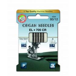 Machine Needles ORGAN EL x 705 Chromium - 80 - 5pcs/card