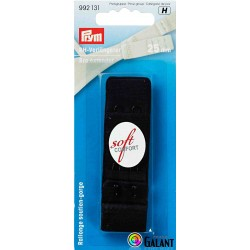 Bra extender 25 mm - Black - 1pcs/card
