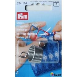 Knitting thimble Norwegian (Prym) - 1pcs/card