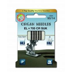 Machine Needles ORGAN EL x 705 Chromium SUK - 90 - 5pcs/card