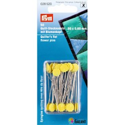 Quilters flat flower pins (Prym) - 50pcs/card