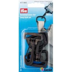 Plastic snap hook - eye 30 mm (Prym) - 2sets/card