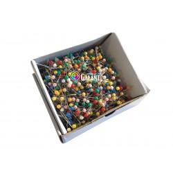 Plastic Head Pins 28x0,60mm c. assort - 1000pcs/box