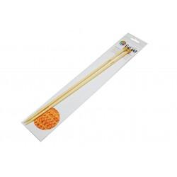 Bamboo Knitting needles - straight 35cm - 6,00mm - 1pair/polybag