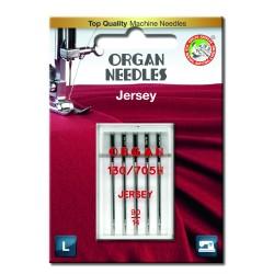 Machine Needles ORGAN JERSEY 130/705H - 90 - 5pcs/plastic box/card