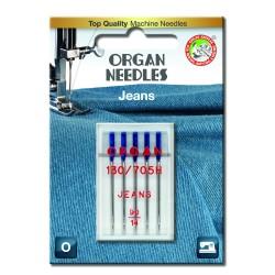 Machine Needles ORGAN JEANS 130/705H - 90 - 5pcs/plastic box/card