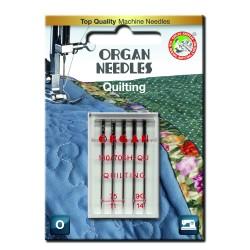 Machine Needles ORGAN QUILTING 130/705 H-QU - Assort - 5pcs/plastic box/card (75:3, 90:2pcs)