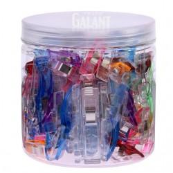 Plastic Clips - assorted colours - 100pcs/plastic box (25pcs large+75pcs small)