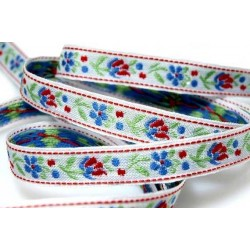 Embroidered ribbon (161 201 107), 10mm, 25m/bunch
