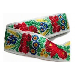 Embroidered ribbon (161 602 707), 70mm, 10m/bunch