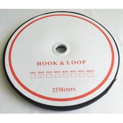 Velcro Economy - colour: 170 (black) - Hooks 20mm - 25m/roll