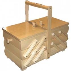 Wooden Folding Sewing Box (middle) - c. light - 1pcs