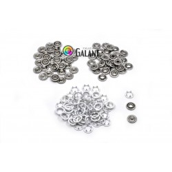 Press Buttons Baby - size 3 (10,5mm) 2 x white ring - nickel free - 100pcs/polybag