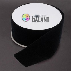 Velcro 107mm - colour: 170 (black) - Loops - 25m/roll