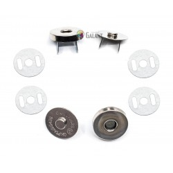 Magnetic Snap Closures 18mm - nickel plated - 100set/polybag