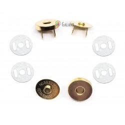 Magnetic Snap Closures 18mm - polished brass - 100set/polybag