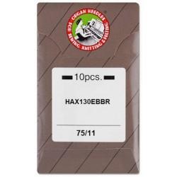 Industrial Machine Needles ORGAN HAx130 EBBR - 75/11 - 10pcs/card