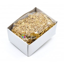 Brass safety Pins PREMIUM - 28x0,65mm - 1728pcs/box (loose)