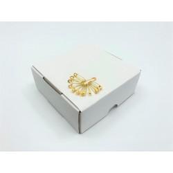 Brass safety Pins PREMIUM - 19x0,65mm - 1728pcs/box (loose)