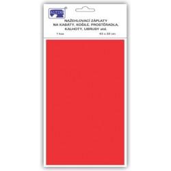 Klasické nažehlovací záplaty 43x20 cm (art.731-33V) - b.červená - 1ks