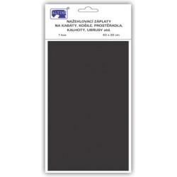 Klasické nažehlovací záplaty 43x20 cm (art.731-99V) - b.černá - 1ks