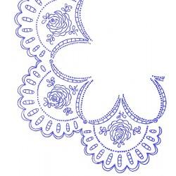 Pre-printed Cotton Tablecloth 90x90cm - U187 - 1pcs