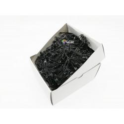 Safety Pins PREMIUM - 28x0,70mm - black - 1728pcs/box (11/12 - in bunches - 144buches/box)