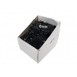Safety Pins PREMIUM - 38x0,90mm - black - 864pcs/box (11/12 - in bunches - 72buches/box)