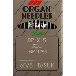 Industrial Machine Needles ORGAN DPx5 SUK - 60/8 - 10pcs/card