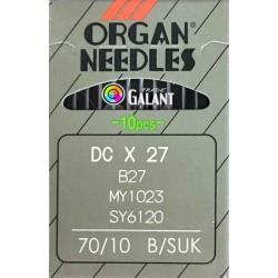 Industrial Machine Needles ORGAN DCx27 SUK - 070/10 - 10pcs/card