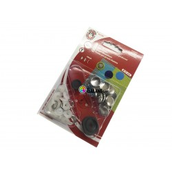 Self covered buttons 15mm - 10pcs/card