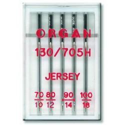 Machine Needles ORGAN JERSEY 130/705H - Assort - 5pcs/plastic box