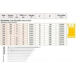 Yarn darners Lo-Lo 5/0 (1,9x75) - 20pcs/envelope, 40envelopes/box (1000pcs)