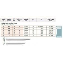Sac Needles 2/0 (1,2x57) - 25pcs/envelope, 40envelopes/box (1000pcs)