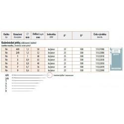 Leather Needles 9 (0,6x32) - 500pcs/box (25pcs/envelope, 20envelopes/box)