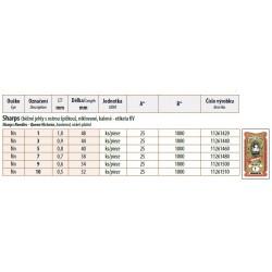 Hand needles Sharps 7 (0,7x38) - 25pcs/envelope, 40envelopes/box (1000pcs)