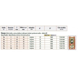 Hand needles Sharps gold eyes 1 (1x48) - 25pcs/envelope, 40envelopes/box (1000pcs)