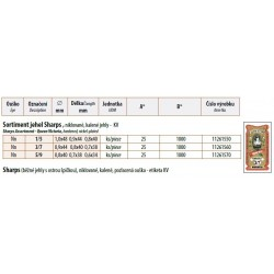 Hand needles Sharps Assort 1/5 - 25pcs/envelope, 40envelopes/box (1000pcs)