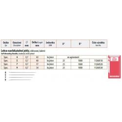Self-threading needles  (0,7x37) - 25pcs/envelope, 40envelopes/box (1000pcs)