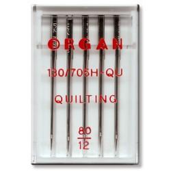 Machine Needles ORGAN QUILTING 130/705H - 80- 5pcs/plastic box