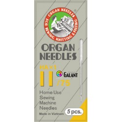 Machine Needles ORGAN HAx1 130/705H - 75/11 - 5pcs/package