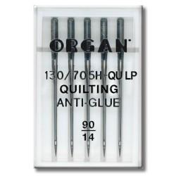 Machine Needles ORGAN QUILTING ANTI-GLUE 130/705H - QULP - 90 - 5pcs/plastic box