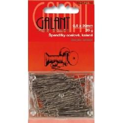 Hard Steel Straight Pins 30x0,60mm - 20g/card