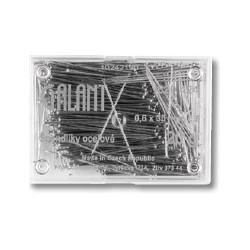 Špendlíky ocelové kalené 30x0,60mm - 20g/plastová krabička