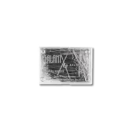 Hard Steel Straight Pins 30x0,60mm - 20g/plastic box